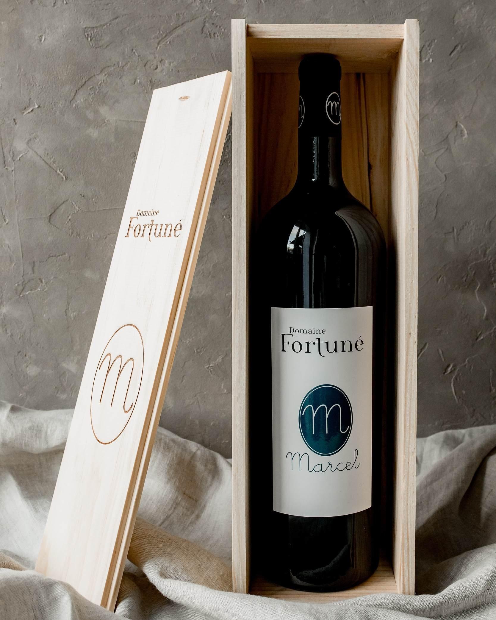 Vin bio rouge As de Fortuné : bouteille
